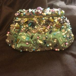Mary Frances Bags - NWOT MARY FRANCES green embellished evening bag